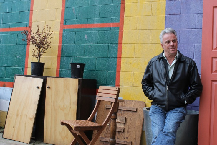 Bob McDonald outside the Solstice Cafe - Photo credit: Anna Gerrard