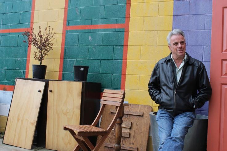 Bob McDonald outside the Solstice Cafe - Photo credit: Anna Gerrard