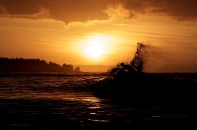Surfing, Jordan River, BC
